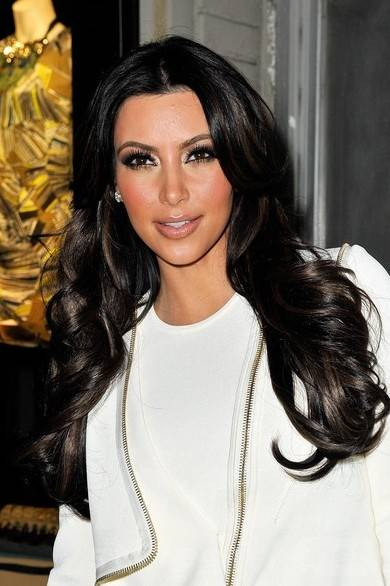Kim Kardashian Long Hairstyle for Prom