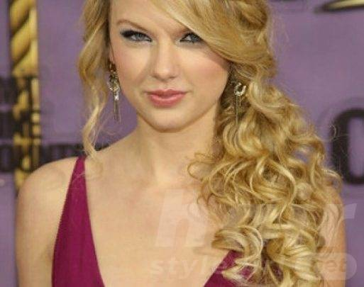 2014 Long Blonde Curly Hairstyle for Prom