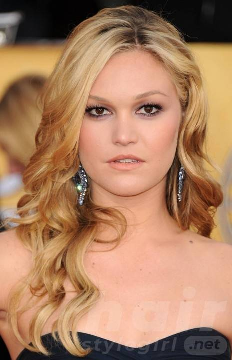 Long Blonde Wavy Hairstyles for Prom