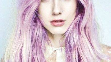 Long Wavy Light Purple Ombre Colored Hair