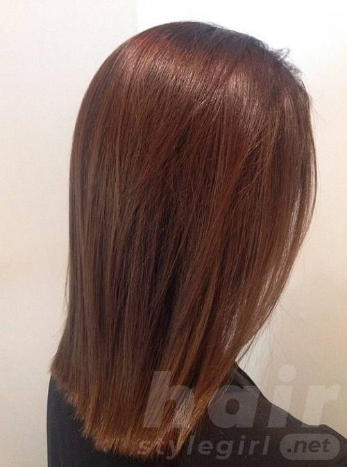Sleek Brown Lob