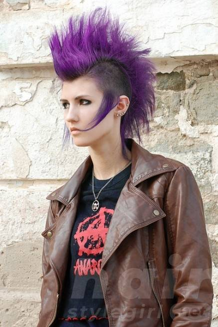 Crazy Purple Punk Hairstyles for Women