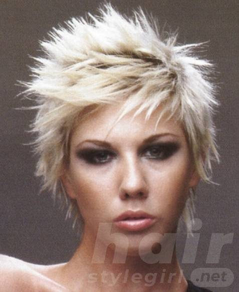 Short Blonde Punk Hairstyles for Women