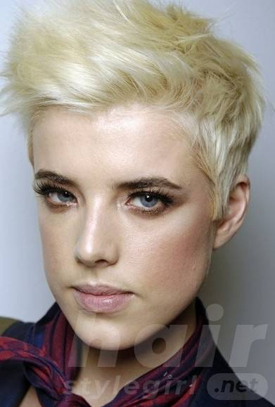 Short Blonde Punk Hairstyles