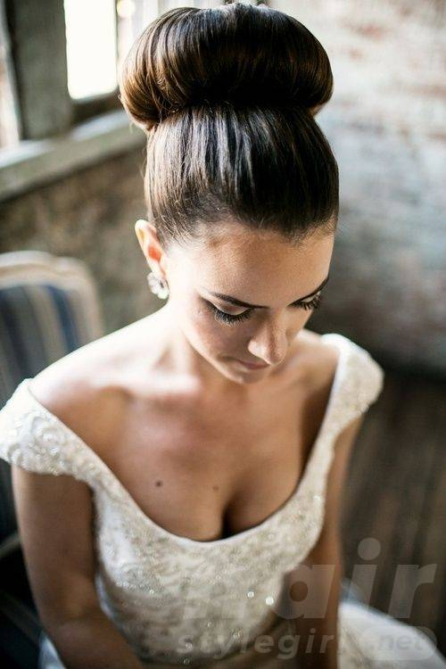 Wedding Hairstyle with Donut Bun
