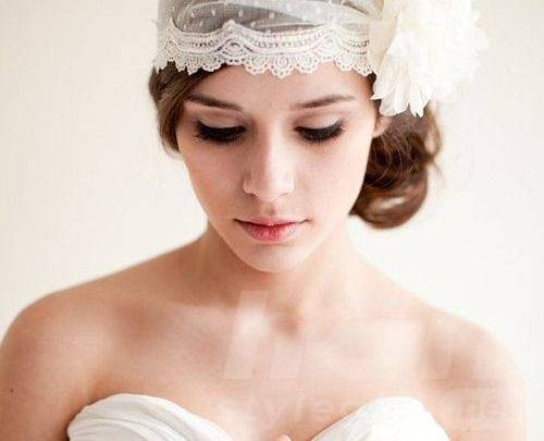 Wedding Hairstyle with Veil Crown
