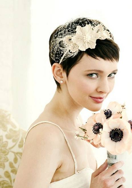Short Pixie Cut for Wedding - Lovely Bridal Pixie Cut