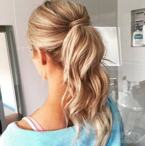 Easy Blonde Ponytail