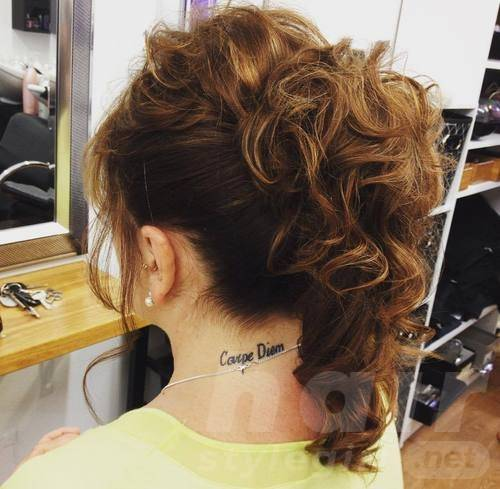 High Ponytail for Curly Hair