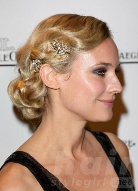 Side View of Vintage Wavy Hairstyle for Medium Length Hair - Hairstyles 2014