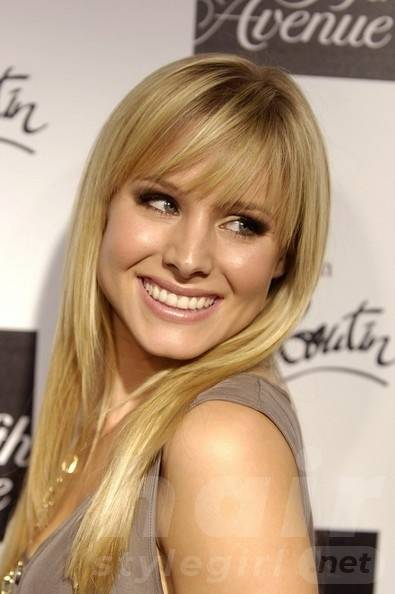 Long Hairstyle with Piecey Bangs for Heart-shaped Women