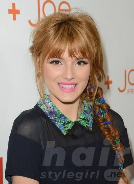 Bella Thorne Long Braided Fishtail Hairstyle for Summer