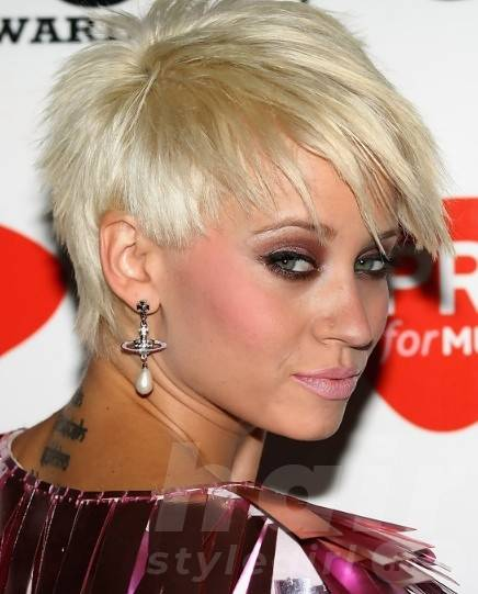 Kimberly Wyatt Spiked Haircut for Summer - Hot Short Hairstyles for Summer
