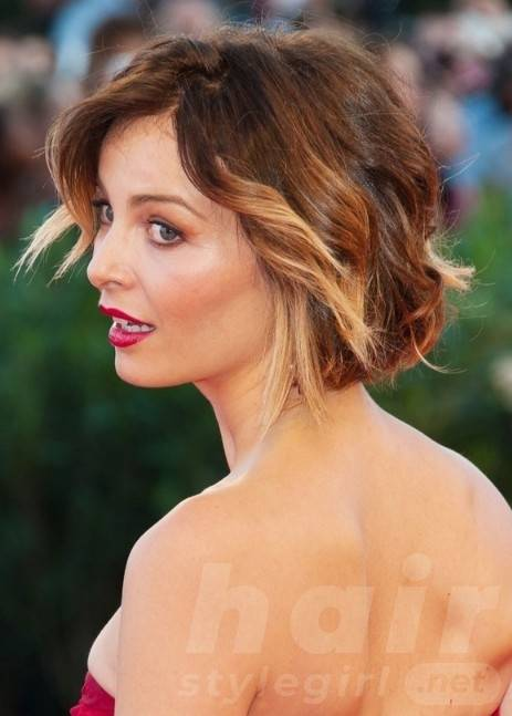 Violante Placido Short Curly Hairstyle for Summer