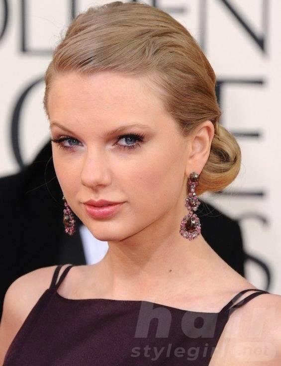 Taylor Swift Hair - Sleek Up-do Hairstyle