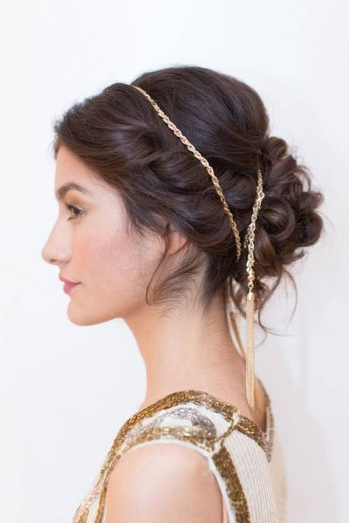 Greek Updo for Beach Wedding