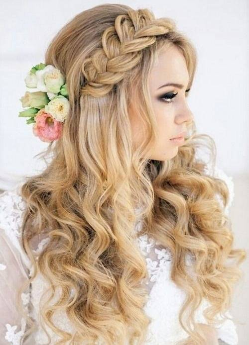 Mermaid Style Beach Wedding Hair