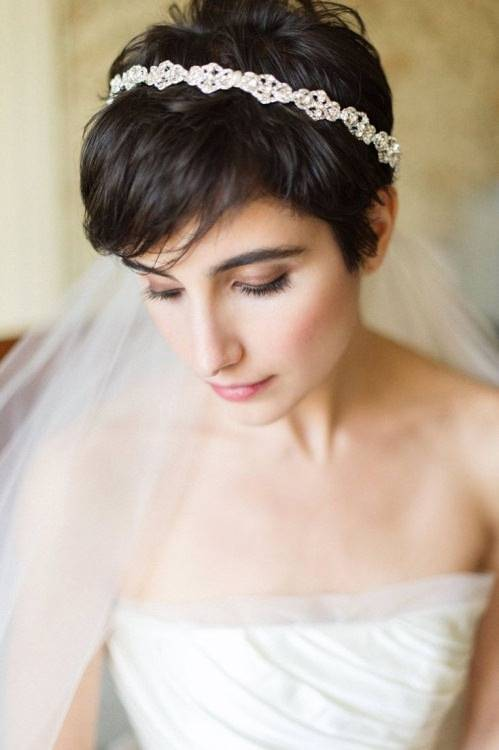 Pixie Cut with a Tiara