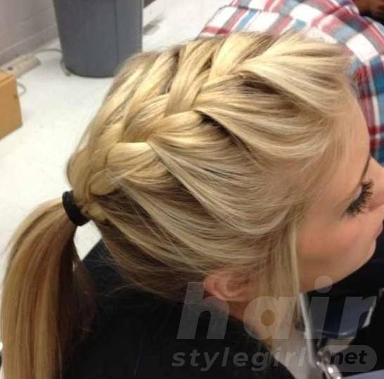 French Braided Ponytail Hairstyles