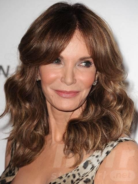 Brunette Hair With Highlights for Older Women Over 50