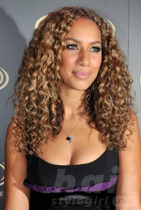 Caramel And Golden Blonde Highlights On Dark Brown Hair