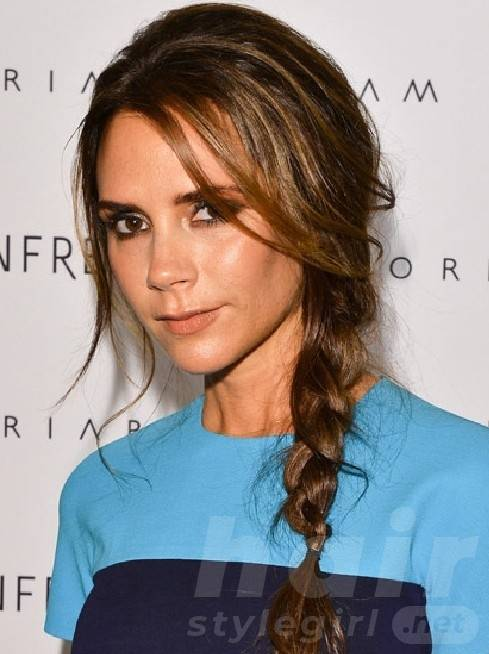 Cute Braided Brunette Hair With Highlights - Braided Ponytail 2014