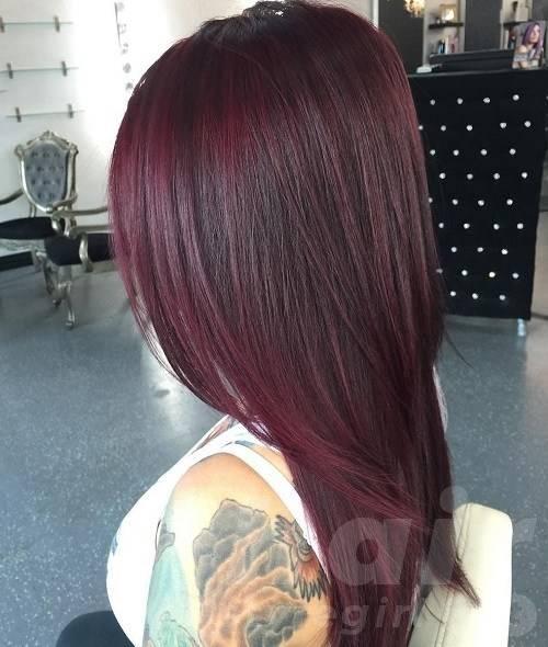 Burgundy Straight Hair