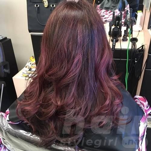Purple and Mahogany Curls