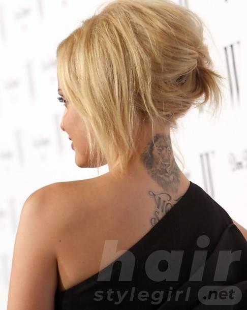 Blonde Updo for Short Hair