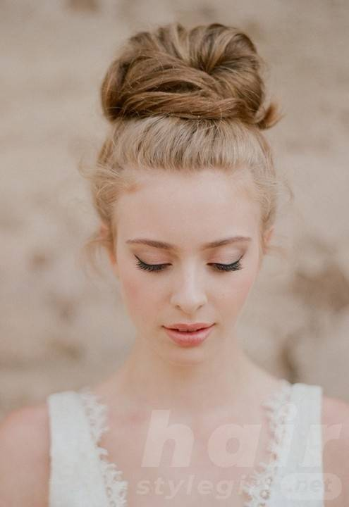 Romantic Top Knot Wedding Updo - Summer Wedding Updo